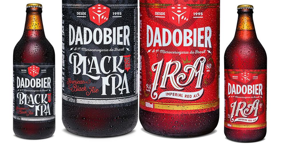 A Black IPA tem 75 IBUs de amargor e 7,5% álcool, enquanto a Imperial Red, 80 IBUs e 9,5% (Fotos: Divulgação)