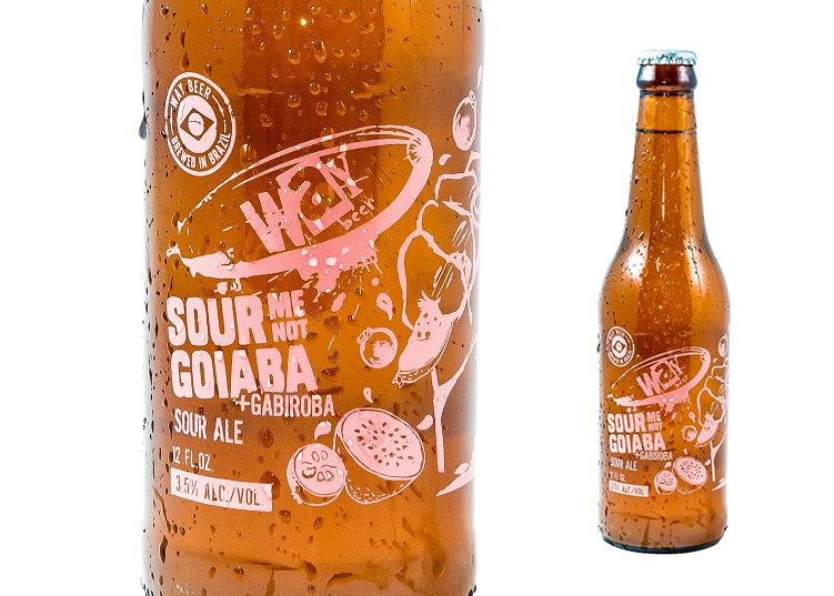 Disponível me garrafas de 355 mL, a Sour Me Not - Goiaba faz parte da linha Sour da Way (Foto: Divulgação)