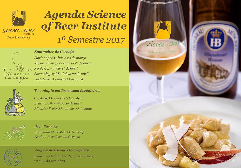 Grade do Science of Beer em 2017 prevê cursos em diferentes regiões do país (Foto: Divulgação)