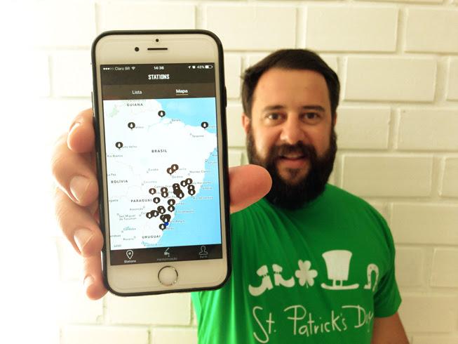 Rodrigo Fernandes, diretor executivo da My Growler, com a nova funcionalidade (Foto: Divulgação)