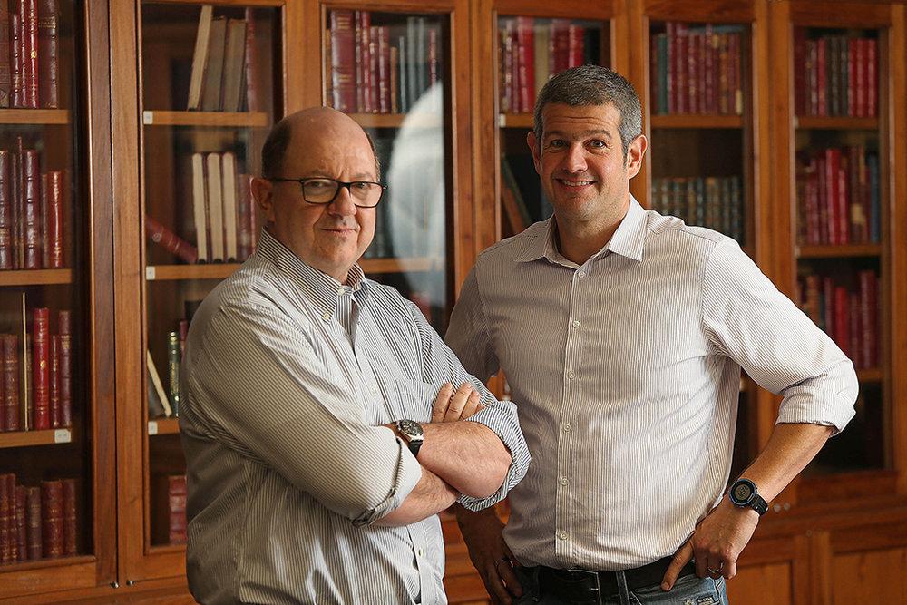 Flavio Pestana e Luciano Kleiman selam a parceria (Foto: Divulgação)
