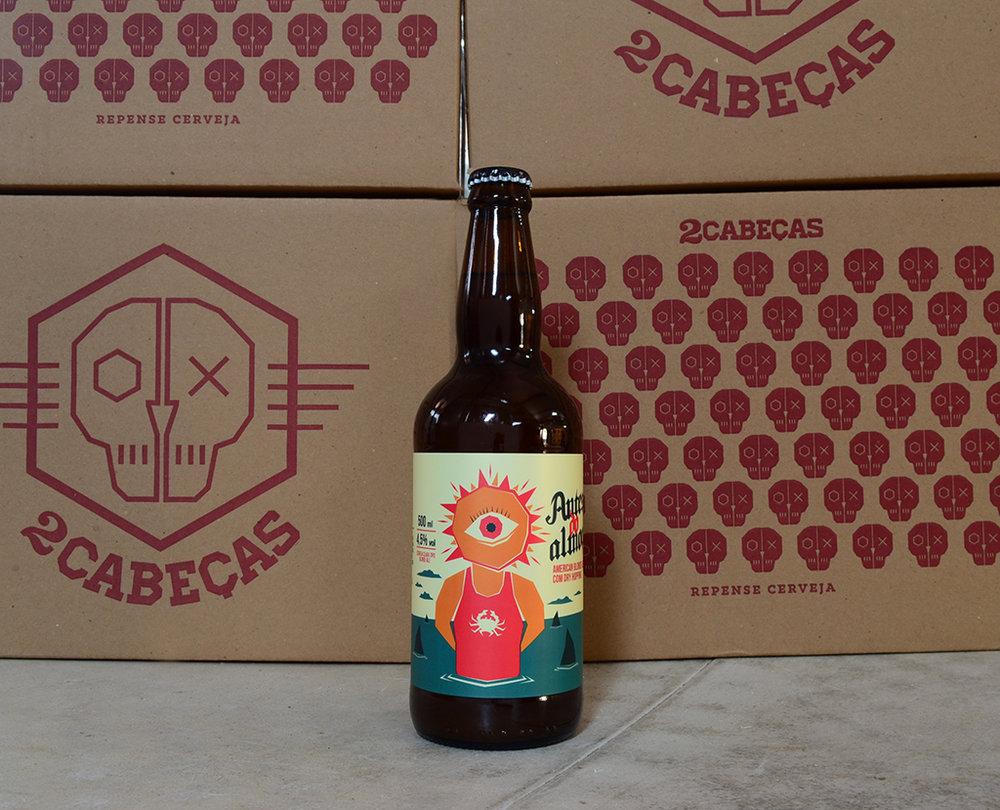 Nova cerveja da carioca 2cabeças é bem lupulada e refrescante (Foto: Divulgação)