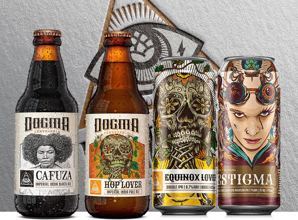 Cervejas incluídas nos novos lotes da Dogma (Foto: Divulgação)
