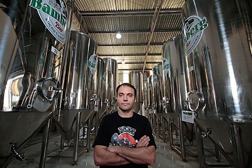 Alexandre Bazzo comemora a visibilidade internacional das cervejas da Bamberg (Foto: Divulgação)