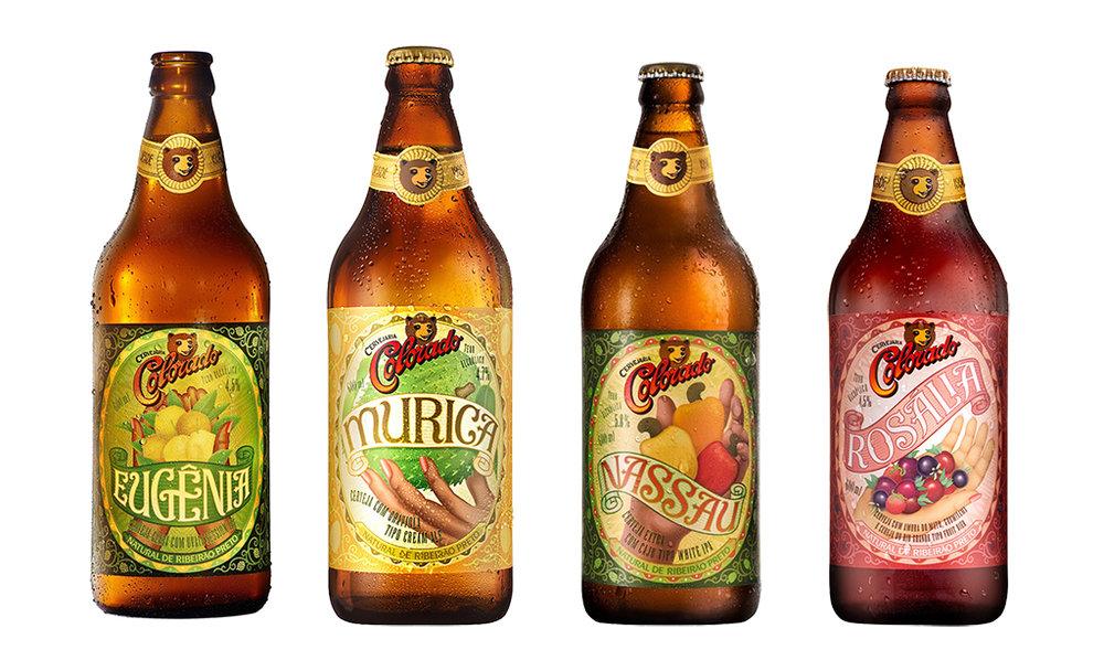 Confira na matéria os detalhes de cada uma das quatro cervejas da linha especial frutada (Fotos: Divulgação)