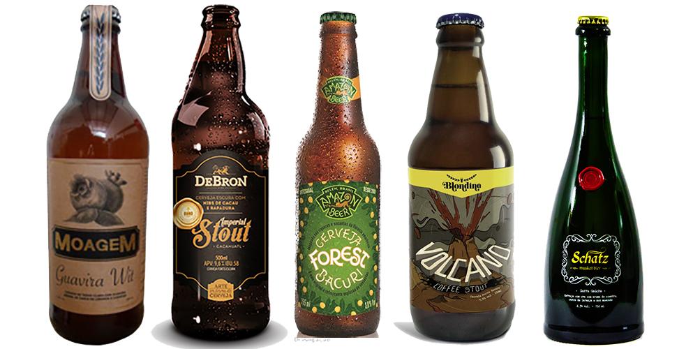 Cinco cervejas pinçadas entre os mais de 2 mil rótulos de cervejas artesanais da rede (Fotos: Divulgação)