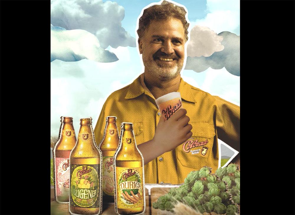 Imagem retirada de vídeo da campanha, com o fundador da Cervejaria Colorado (Foto: Divulgação)