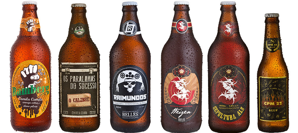 Nenhum de Nós, Paralamas, Raimundos e Sepultura são homenageados pela linha da Bamberg (Fotos: Divulgação)