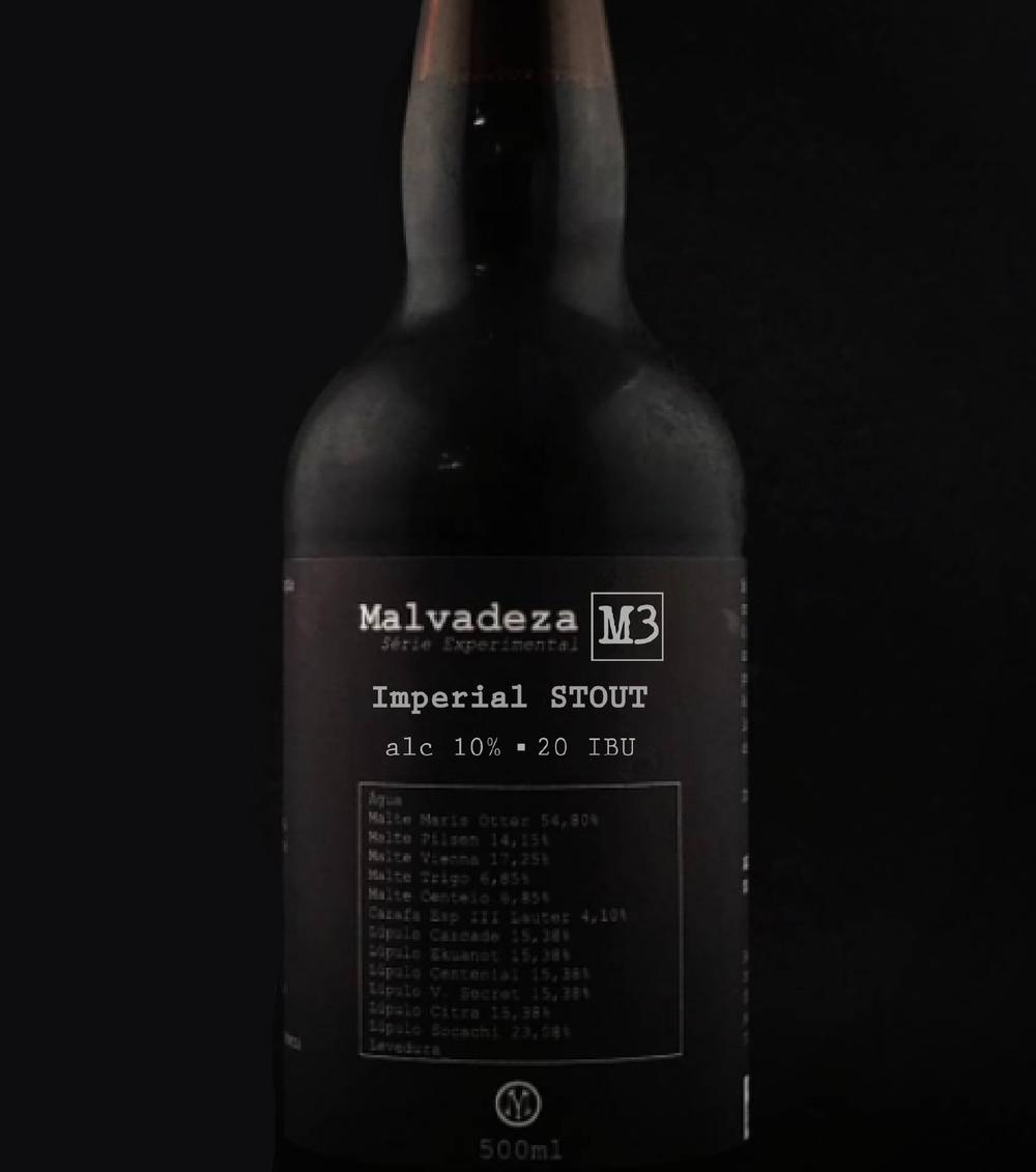 Imperial Stout da Malvadeza é o terceiro entre 10 rótulos previstos para marcar a década de atividade da cervejaria gaúcha (Foto: Divulgação)