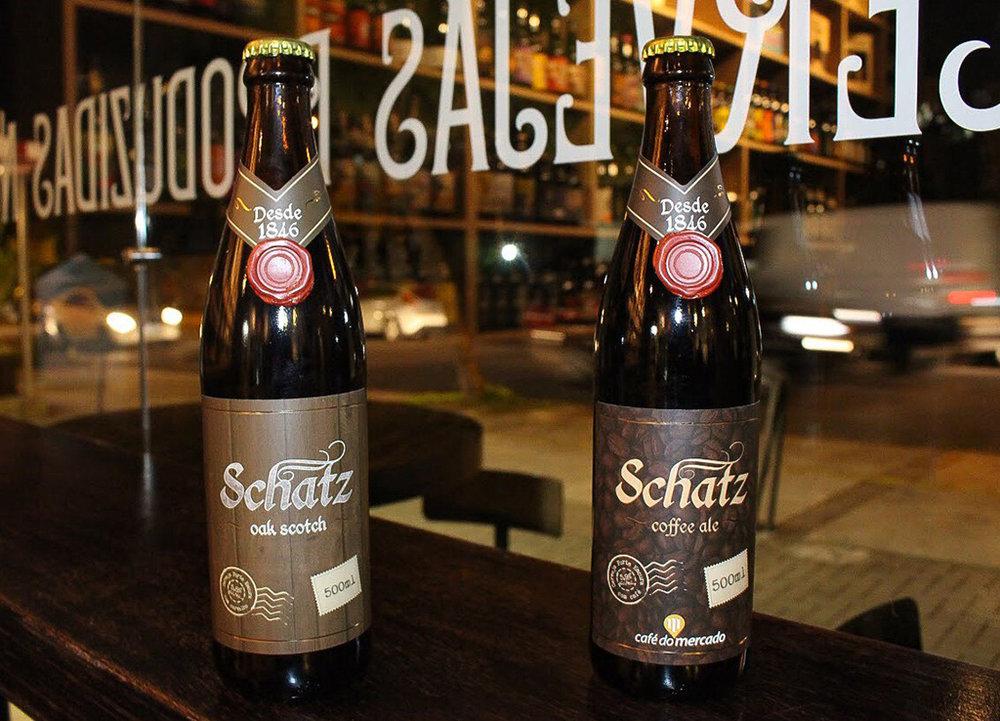As novidades são a Schatz Oak Scotch e a Schatz Coffee Ale e a (Foto: Lilian Lima/Divulgação)