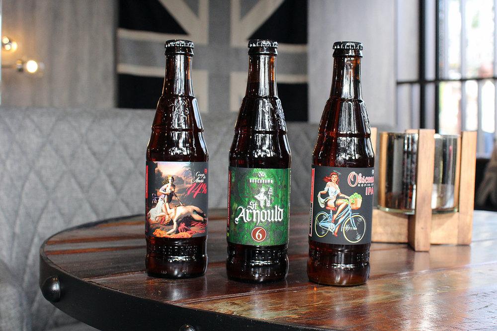Três das cervejas que são atração no espaço (Foto: Divulgação)