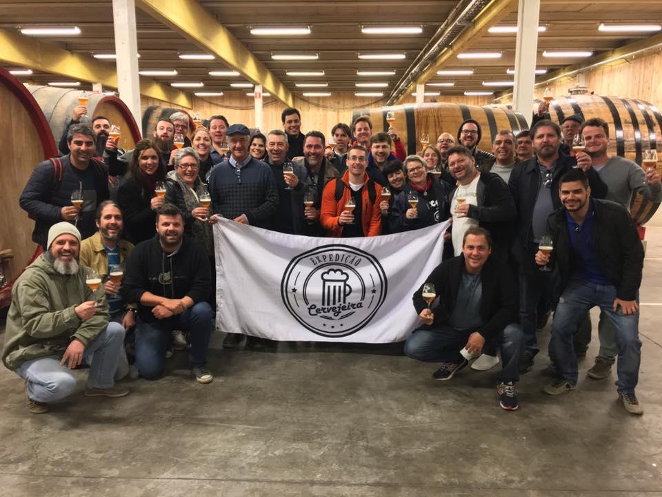 Registro da expedição cervejeira a Bélgica ocorrida em 2017 (Foto: Divulgação)