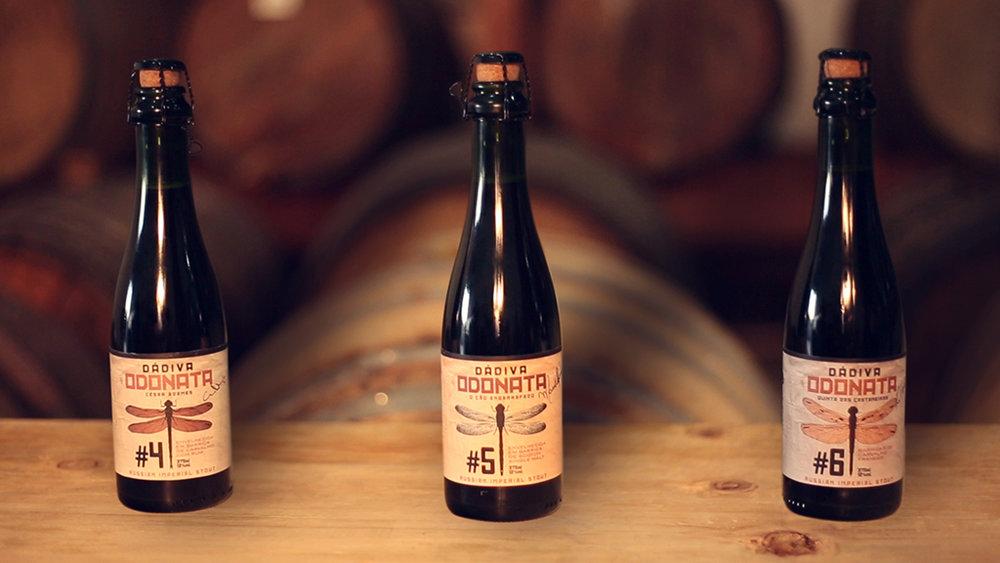 As três versões da edição limitada da Imperial Stout da cervejaria Dádiva (Foto: Divulgação)