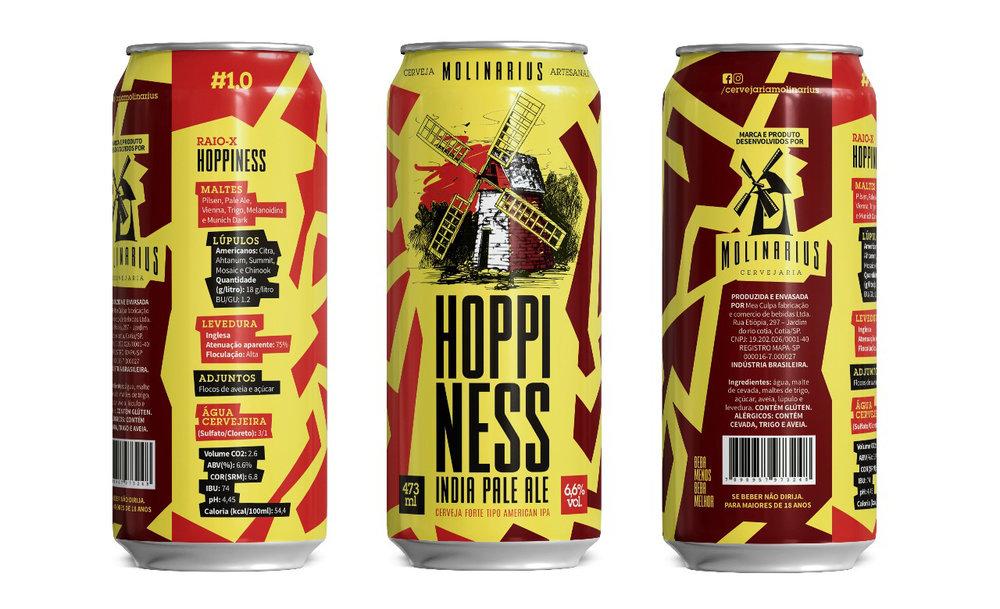 Design na lata detalha a receita e destaca o moinho que faz referência à origem do nome do cervejeiro e inspira a cervejaria (Foto: Divulgação)