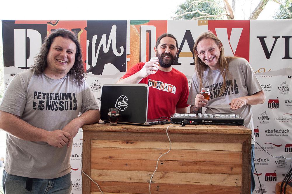 O trio à frente da DUM,Luiz Felipe Araújo, Júlio Moutinho e Murilo Foltran (Foto: Daniela Carvalho/Divulgação)
