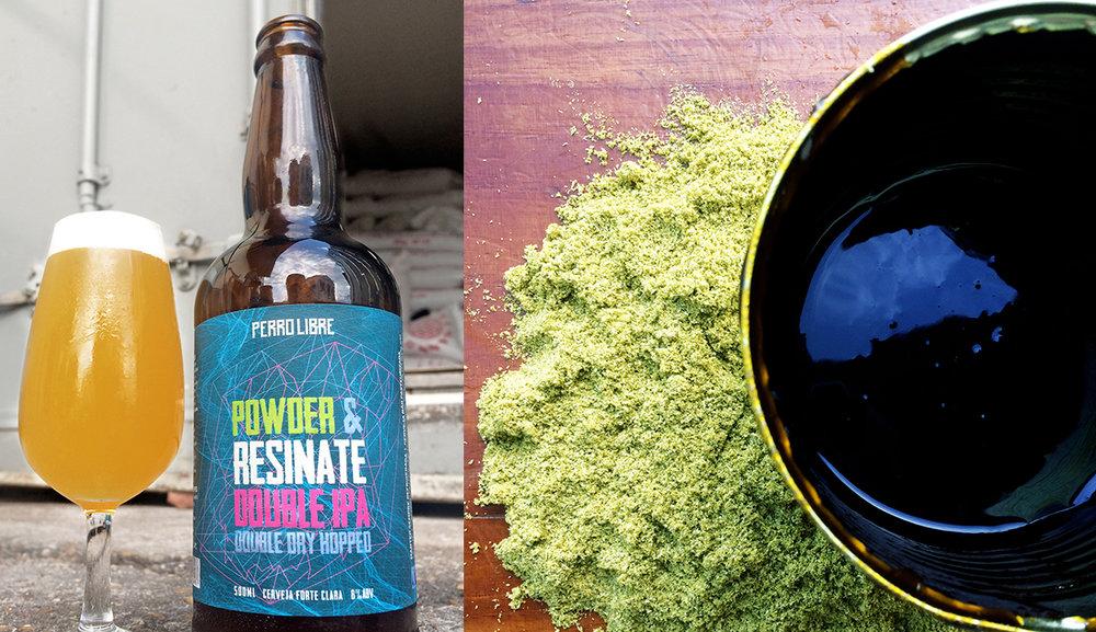 Os destaques da receita da Powder & Resinate Double IPA é a utilização de lúpulo em pó e em extrato (Fotos: Divulgação)
