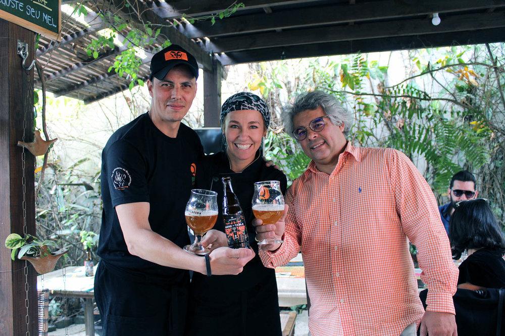 O sommelier Fabricio, a chef Gabriela e o cervejeiro Samuel (Foto: Divulgação)