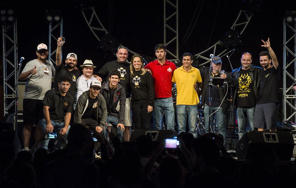 Os vencedores do festival realizado no Parque da Gameleira, em Belo Horizonte (Foto: Divulgação)