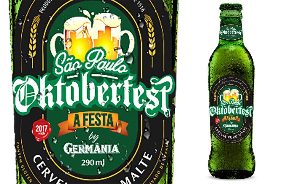 Uma Lager Puro Malte é a cerveja preparada pela Germânia para a festa germânica na capital paulista (Foto: Divulgação)