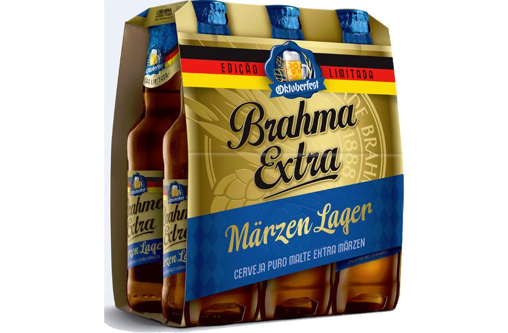 Cerveja é uma versão especial da Brahma Extra que procura reproduzir o tradicional estilo da Oktoberfest alemã (Foto: Divulgação)