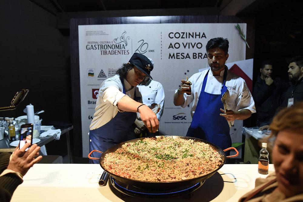 """""""Cozinha ao Vivo"""" foi uma das atrações do festival na cidade mineira (Foto: Divulgação)"""