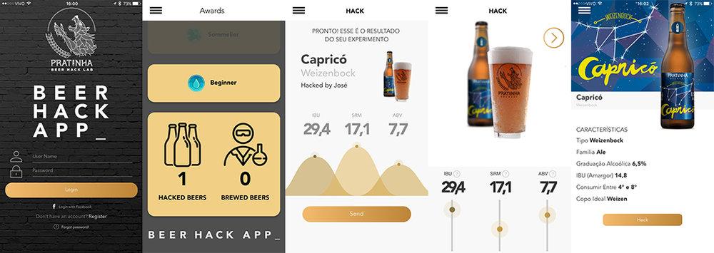 O passo a passo do app da Cervejaria Patrinha (Fotos: Divulgação)