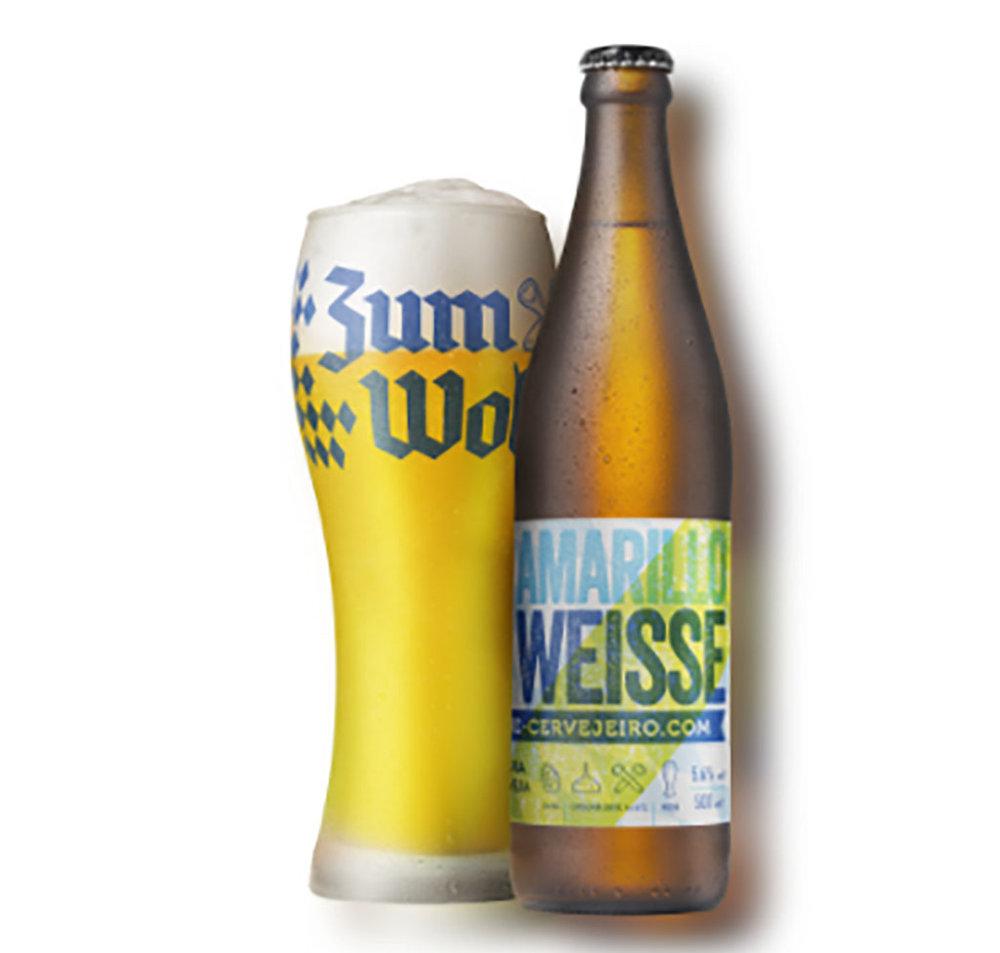 A Amarillo Weisse será oferecida em garrafas 500 ml e na versão chope (Foto: Divulgação)