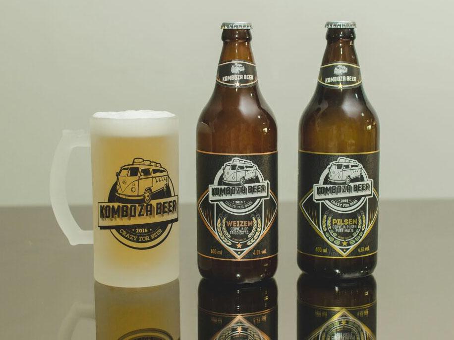 Cervejas são produzidas em Curitiba mas podem ser compradas por clientes de todo o Brasil, inclusive via site www.kombozabeer.com.br(Foto: Silmara Machado/Divulgação)