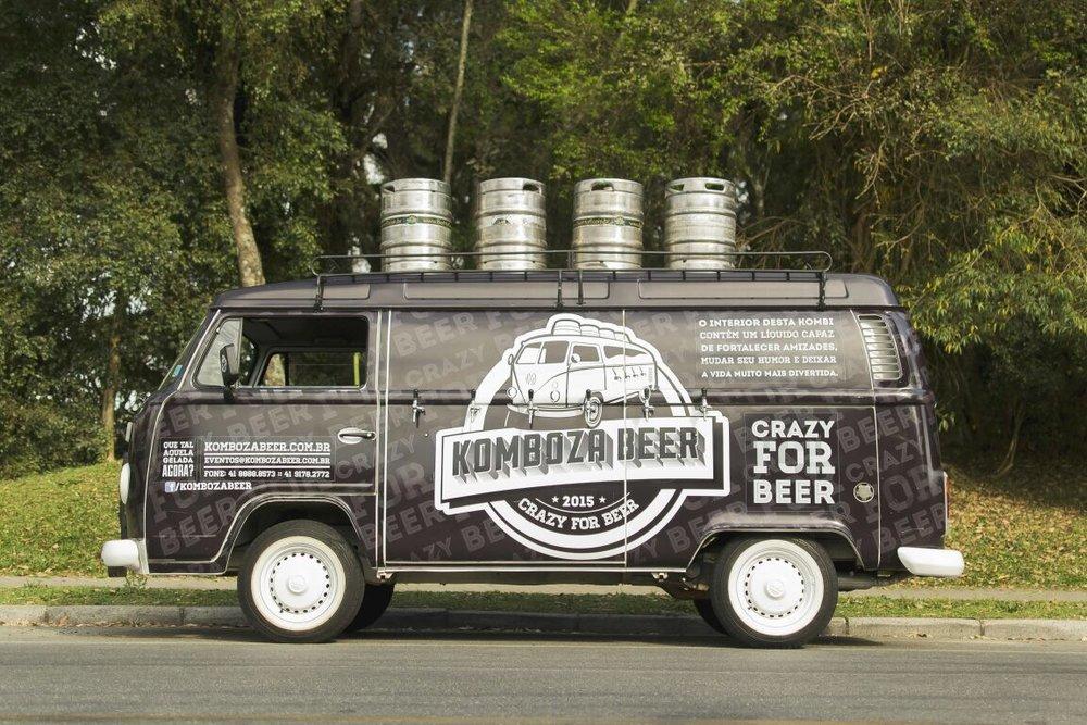 A Komboza Beer tem seis torneiras para abastecer eventos (Foto: Silmara Machado/Divulgação)