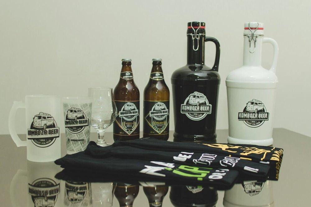 A Komboza Beer também vende outros produtos com a marca, entre canecas, taças, growlers e camisetas (Foto:Silmara Machado/Divulgação)