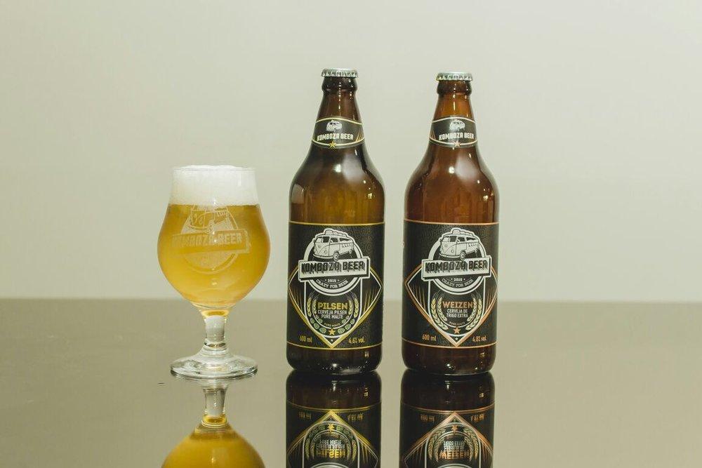 Cervejas da Komboza Beer em garrafa