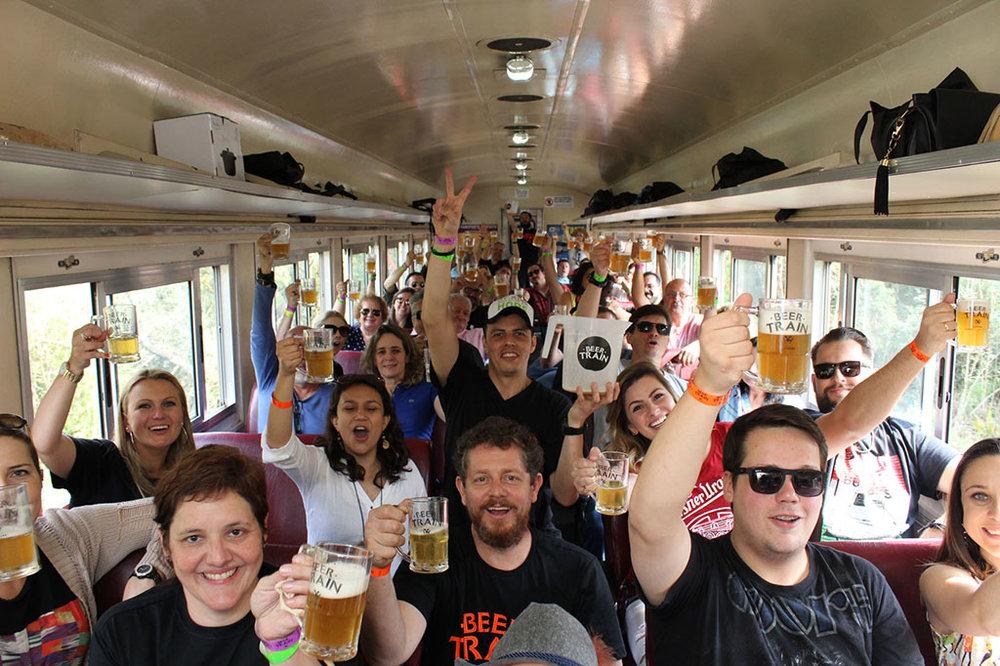 Passeio ferroviário no Paraná se consagrou na agenda cervejeira (Foto: Divulgação)
