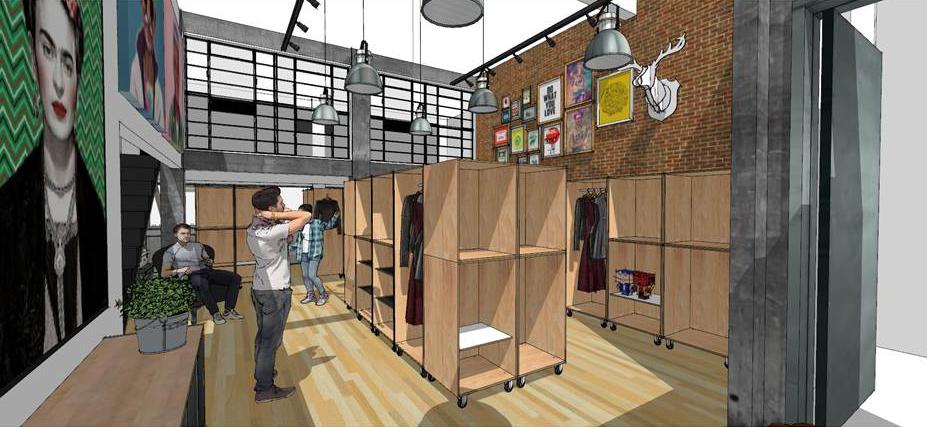 Projeção de como ficará a loja a ser instalada no bairro Moinhos de Vento, na capital gaúcha (Foto: Divulgação)
