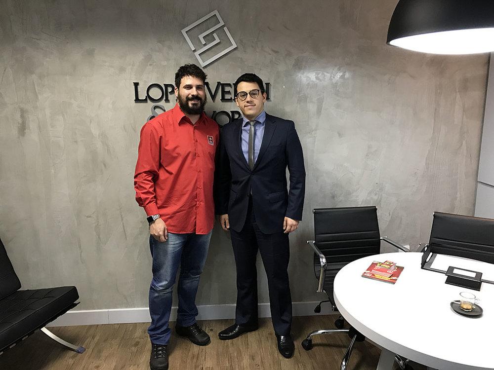 Bento Ferreira, da Agência Alvo, e André Lopes, o Advogado Cervejeiro (Foto: Divulgação)