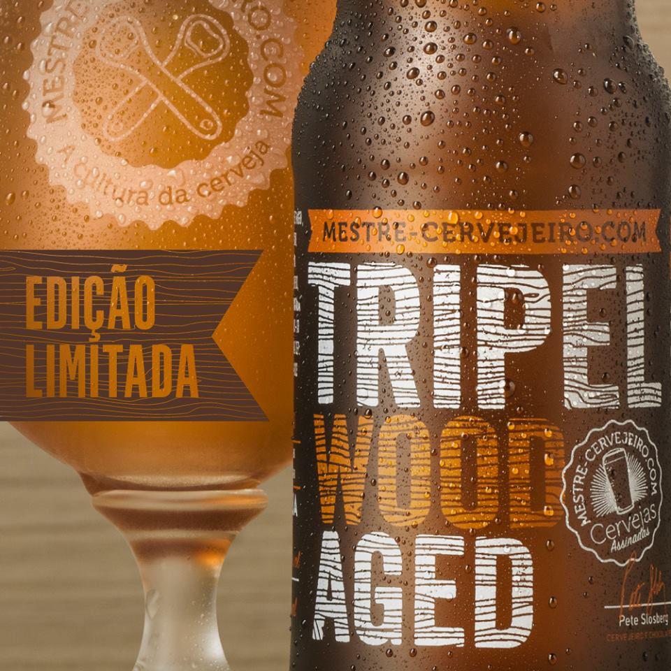 A Tripel Wood Aged foi desenvolvida pela Mestre-cervejeiro.com em conjunto com Pete Slosberg e Jacir Cavalheiro, mestre-cervejeiro da Bier Hoff (Foto: Divulgação)