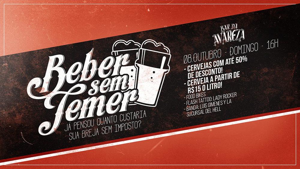 O cartaz da festa Beber Sem Temer com as atrações do primeiro domingo (Foto: Divulgação)