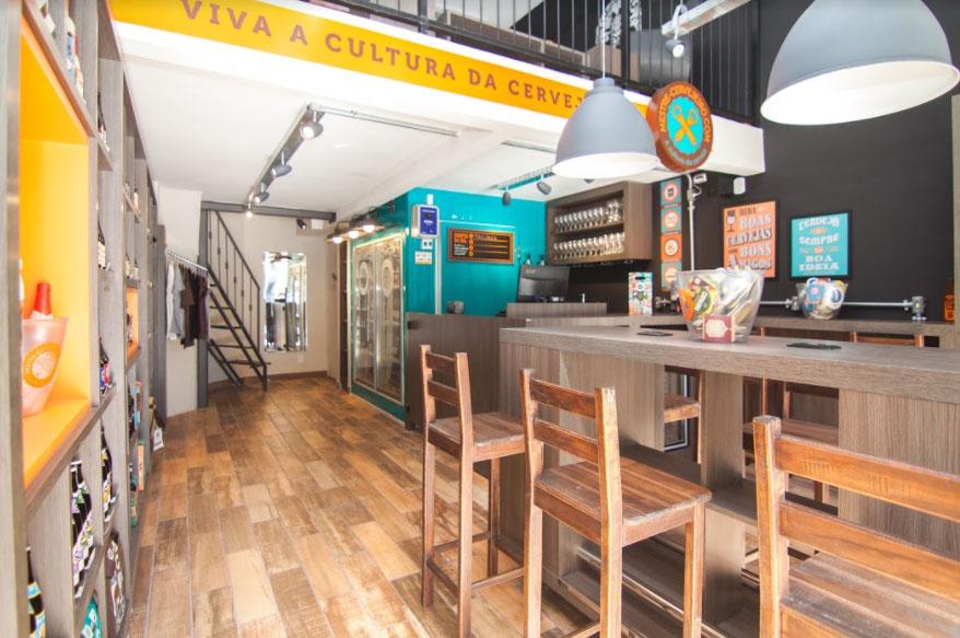 Loja de 34 metros quadrados conta com espaço para degustação (Foto: Divulgação)