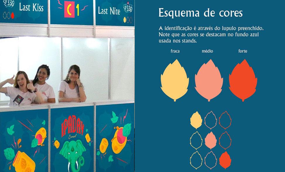 Como é o esquema de cores das IPAs no festival (Foto: Divulgação)