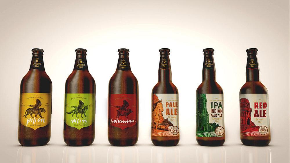 A linha da cervejaria mineira, que anuncia parceria com a sommelier Fabiana Arreguy (Foto: Divulgação)