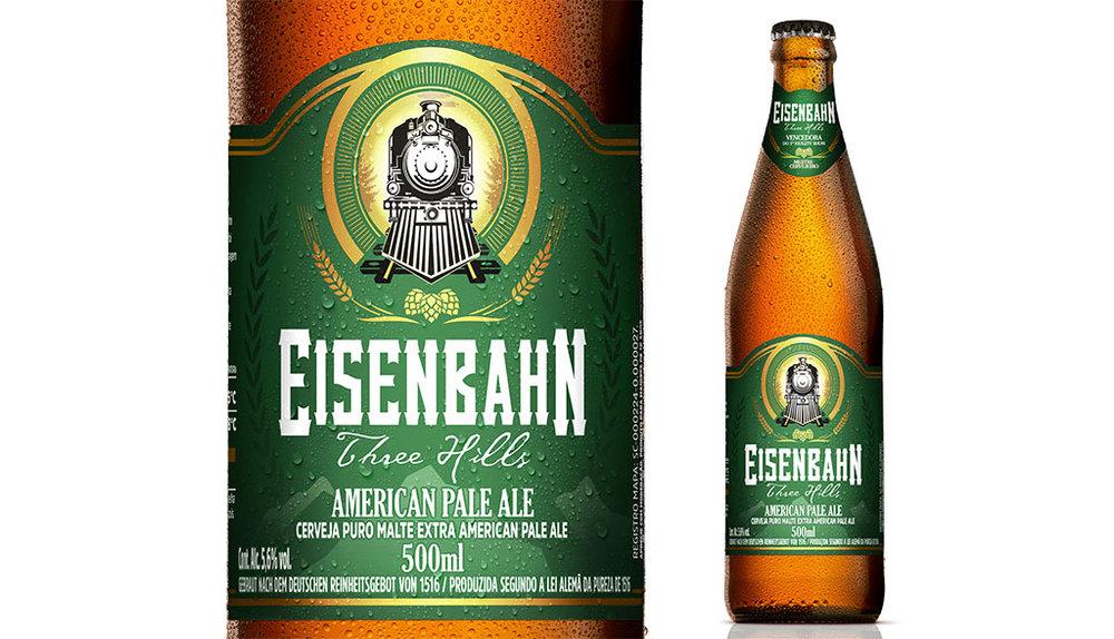 Eisenbahn American Pale Ale é fruto do primeiro concurso da Eisenbahn realizado no formato de reality show (Foto: Divulgação)