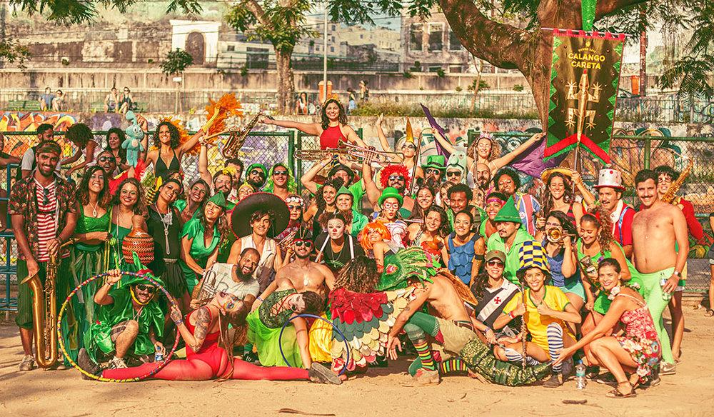 Calango Careta é um coletivo cultural que vive durante o Carnaval (Foto: Daniel Titis/Divulgação)