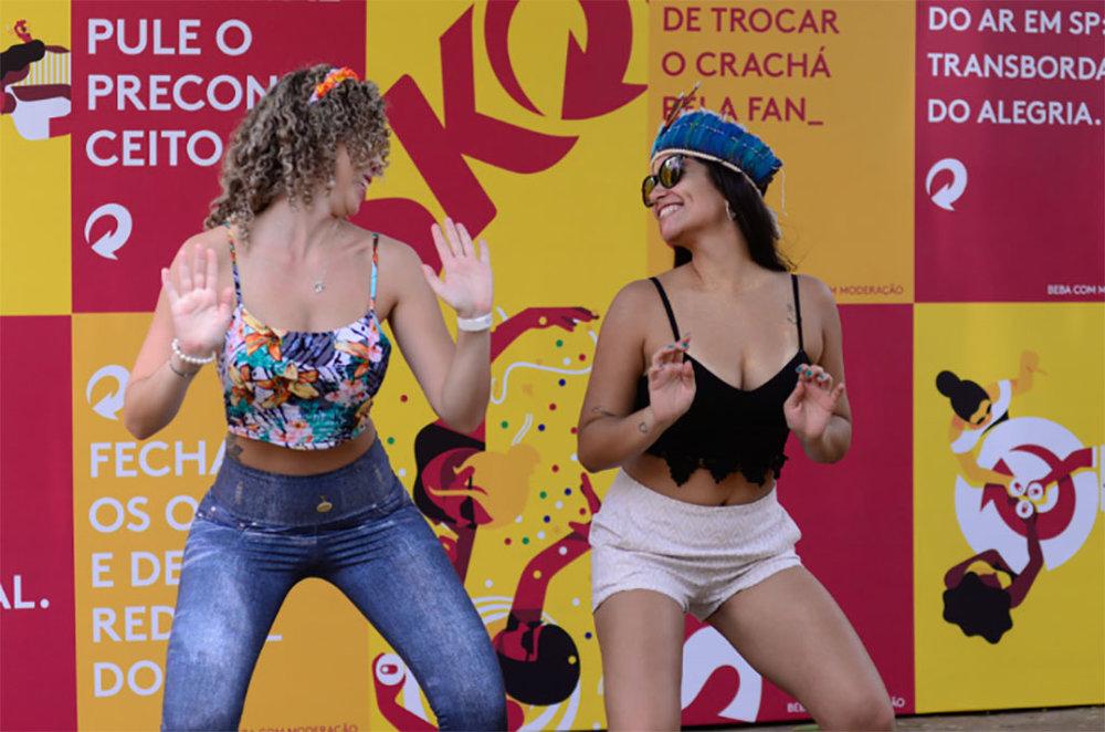 As amigas Ana Paula e Natalia destacaram a segurança na Estação Skol (Erbs.Jr, Divulgação)