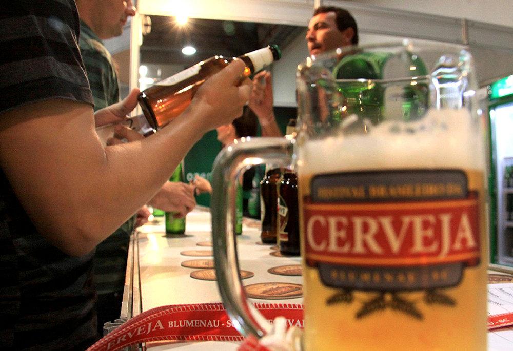 A ação de divulgação do Vale da Cerveja mobiliza entidades e empresas da região, em Santa Catarina (Foto: Marcelo Martins/Divulgação)