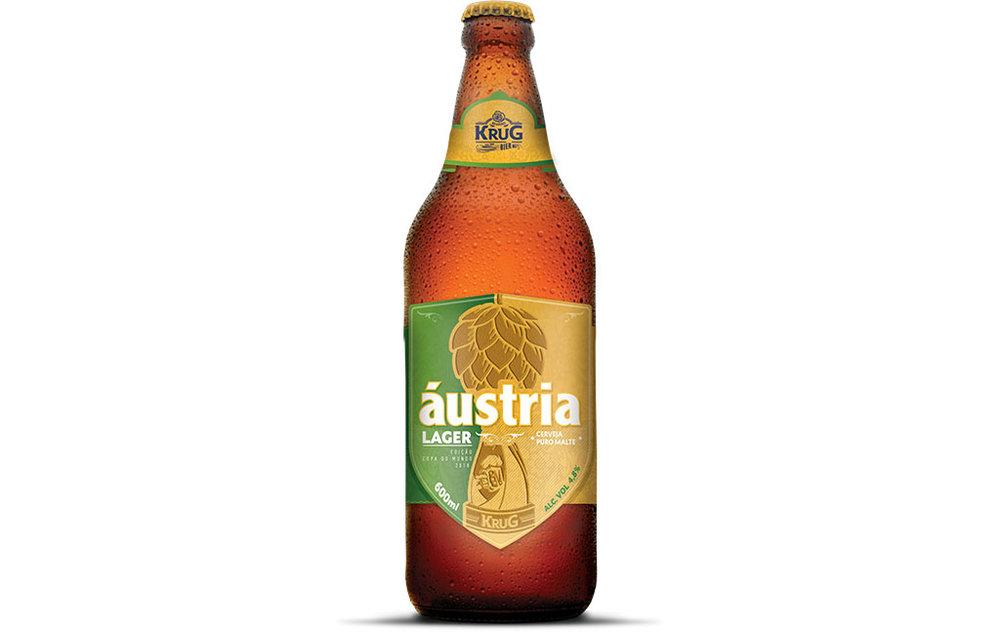 A Áustria Lager tem 4,8% e teor alcoólico e amargor baixo, de 10 IBUs (Foto: Divulgação)