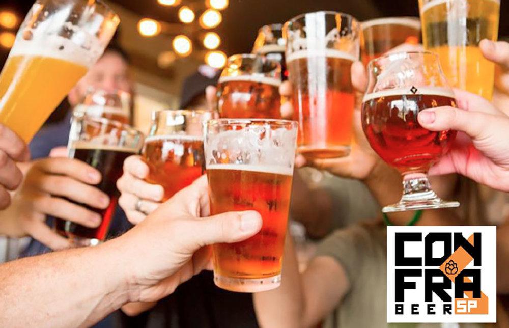 O grupo de 16 cervejarias integrantes da confraria se divide no evento em duas ilhas (Foto: Divulgação)