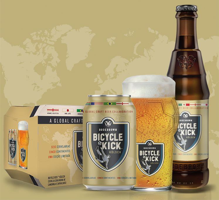 De estilo Kölsch, a cerveja conta na receita com camomila (flor nacional do país sede da Copa) e capim-limão em homenagem aos gramados de futebol (Foto: Divulgação)