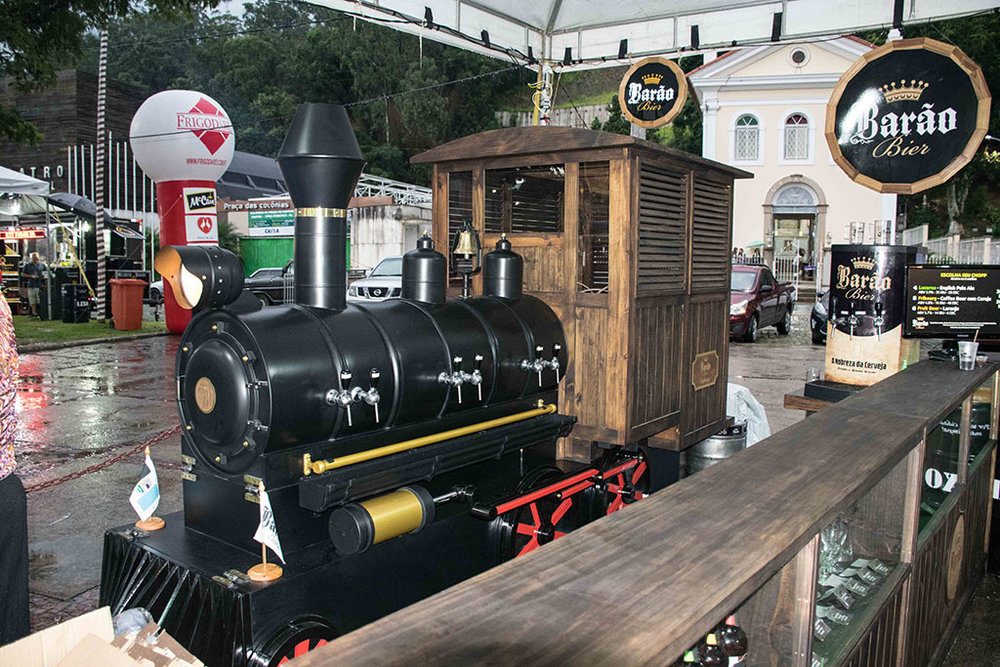 O trem cervejeiro da Barão Bier (Foto: Divulgação)