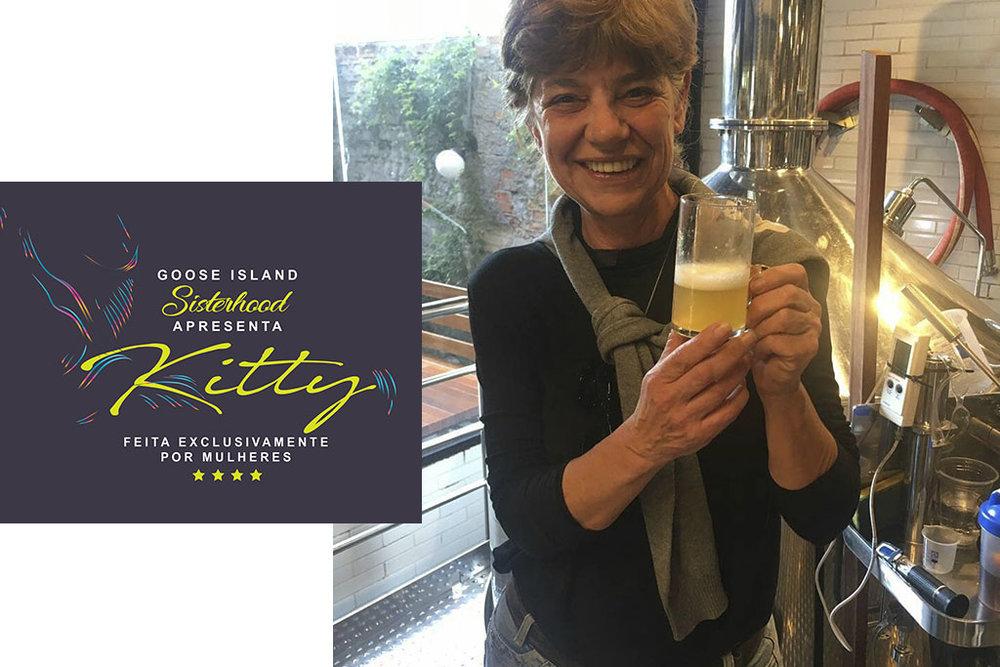Cerveja em homenagem a Kitty Balieiro é uma India Pale Lager com 5% de álcool e amargor de 46 IBUs (Fotos: Divulgação)