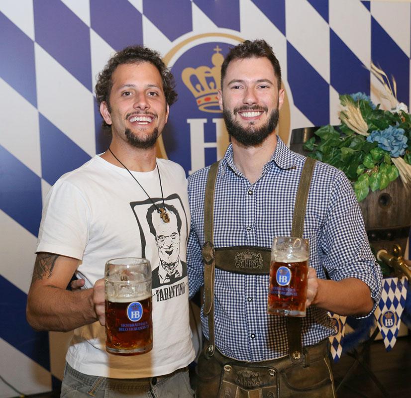 Bruno Vinhas e Henrique Rocha levaram a Hofbräus para BH (Foto: Edy Fernandes/Divulgação)