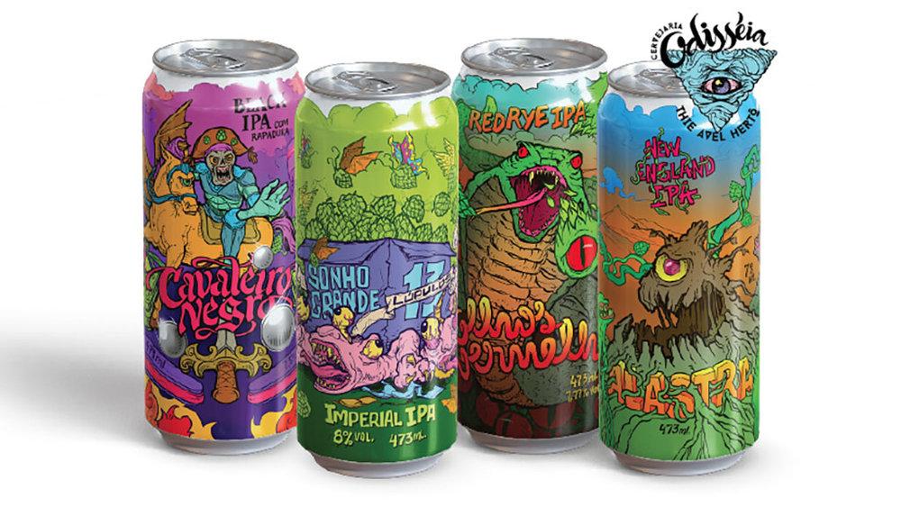 As quatro novas cervejas da Odisséia (Foto: Divulgação)